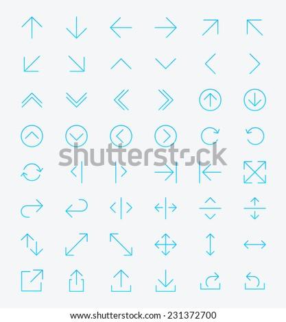 Line Arrow icon set | Vector #231372700