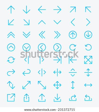 Line Arrow icon set | Vector #231372715