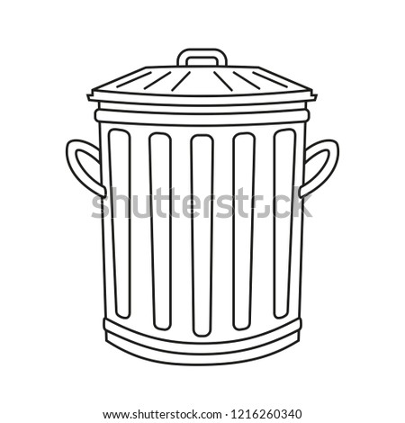 garbage white line icons download free vector art stock graphics