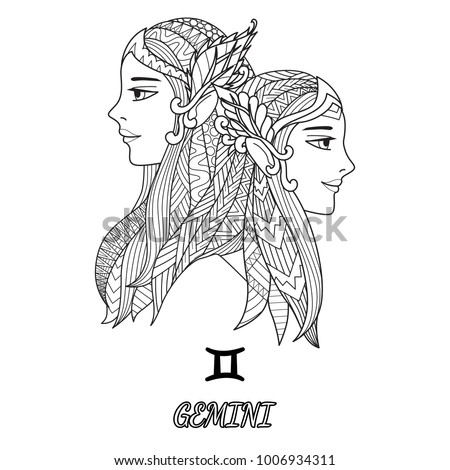 line art design of gemini
