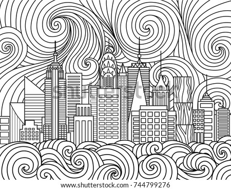 line art design of new york