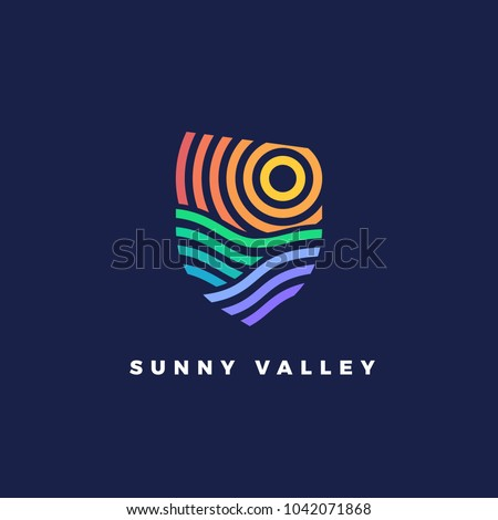line art emblem sunny valley