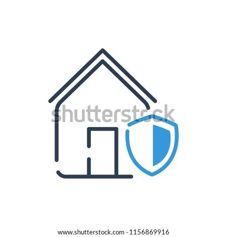 Line Art. Home security vector illustration