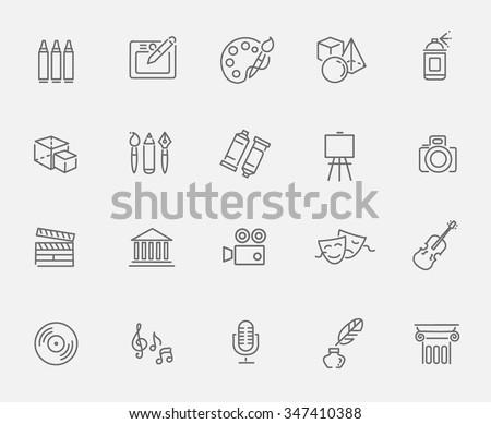 Shutterstock line art icon