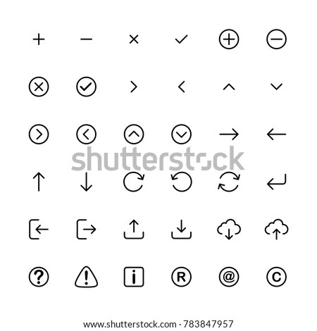 Line Art Icon Set Vector Template