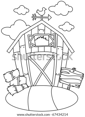 Red Barn Coloring Page http://www.shutterstock.com/pic-67434214/stock-vector-line-art-illustration-of-a-barn-house-coloring-page.html