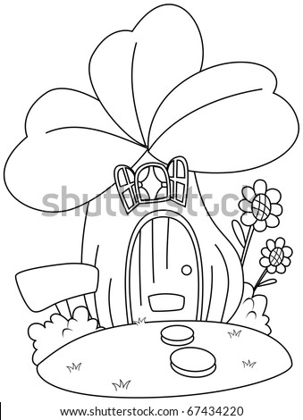 Shape House Coloring Page Coloring Pages