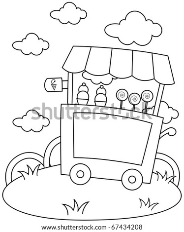 ice cream stand coloring pages - photo#6