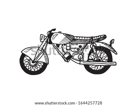 line art of a motorcycle hand