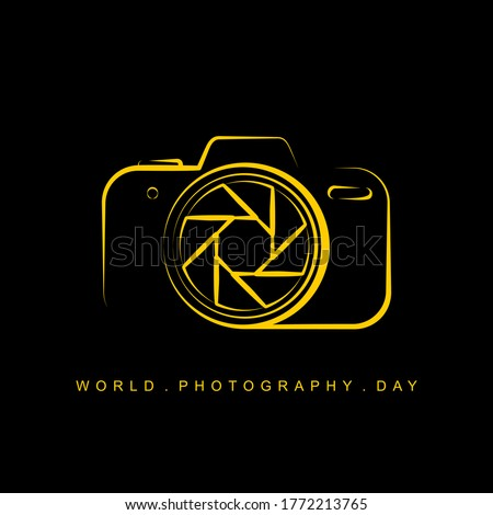 Line art of Camera vector illustration for World Photography Day design. also good template for Photography design