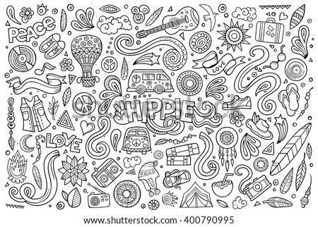 line art vector hand drawn