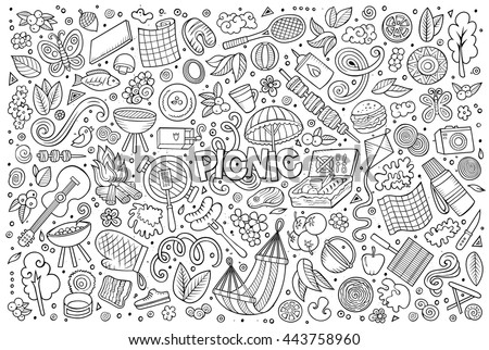 line art vector hand drawn