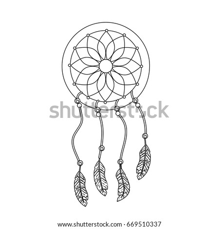 beauty dream catcher with feathers design ez canvas