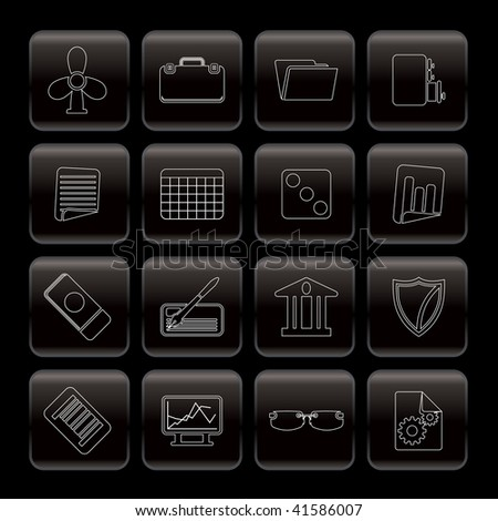 Line  Business and Office Icons - Vector Icon Set 2