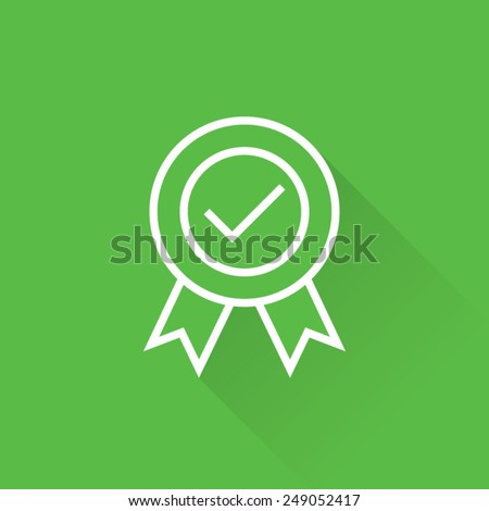 Line Certified Seal Icon