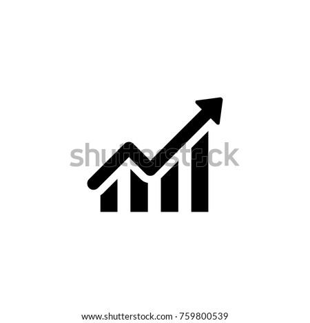 Line chart vector icon