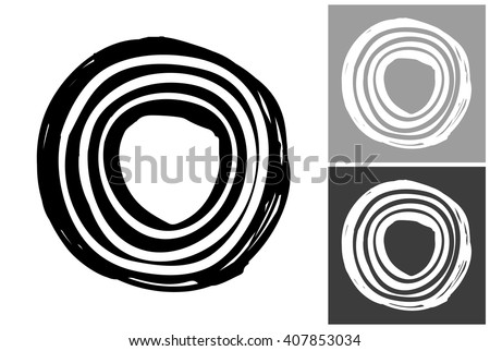 line circle vector hand drawn