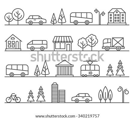 line city illustration vector