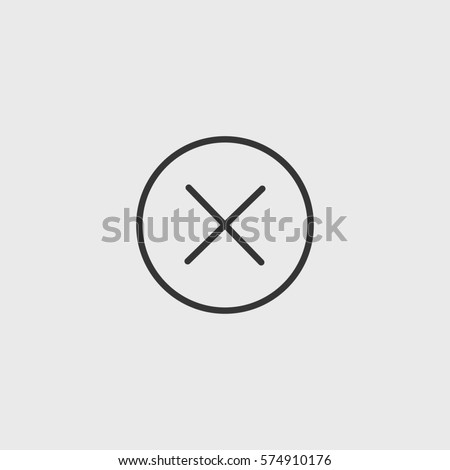 Line close icon illustration isolated vector sign symbol