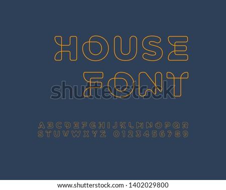Line connected font set design