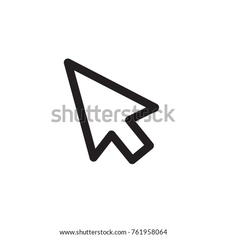 Line cursor icon in trendy flat style isolated on background.