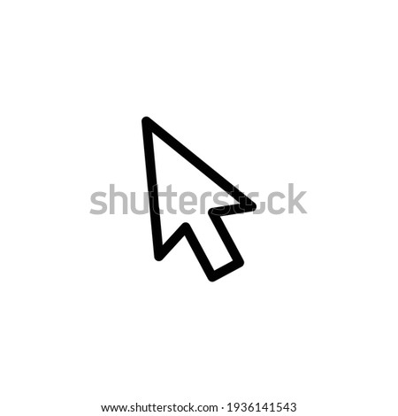 line cursor icon in trendy flat style isolated on background. line cursor icon page symbol for your web site design line cursor icon logo, app, UI. line cursor icon Vector illustration