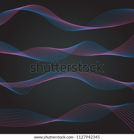 line curve abstract wave creative gradient graphic element shape pattern design vector illustration art
