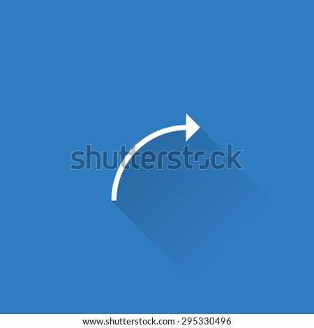 Line Curved Arrow Sign Icon