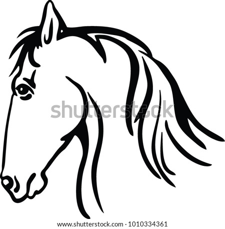 Free Horses Silhouette Vector