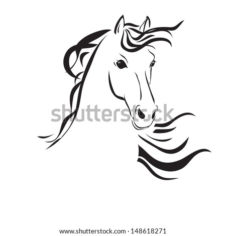 Line Drawings of Horses Heads Line Drawing of a Horse 39 s Head