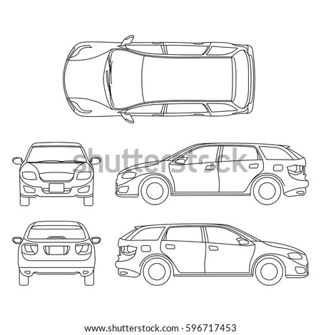 Stock Vector Racing Car Silhouette Vector furthermore Stock Vector Drifting Car in addition Stock Vector Silhouette Of Car Flat Outline also Stock Vector Line Drawing Of Car White Vehicle Vector  puter Art together with Stock Photo Passenger Car Colored And Outlined Top Side Back Front View Isolated On White Background. on 309121718 shutterstock car line draw insurance rent damage
