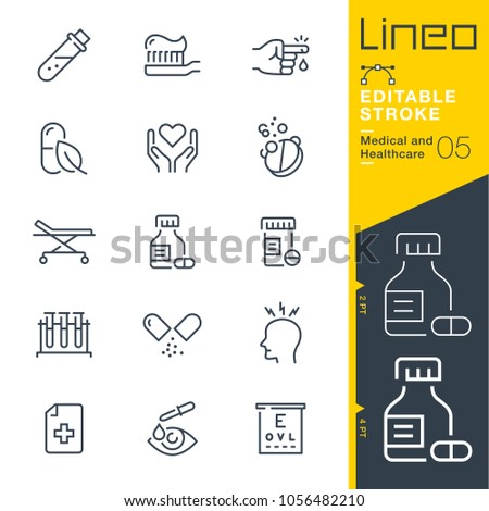 Line Editable Stroke - Medical and Healthcare line icons