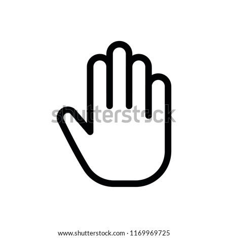 Line Finger Icon