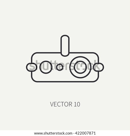 line flat vector military icon