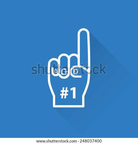 line foam finger  1 front side
