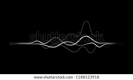 line frequency sound wave vector background