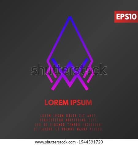 Line Geometric Hipster Symbols for Logotype Design