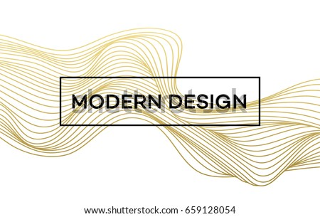 stock-vector-line-golden-wave-on-white-background-vector-illustration-eps