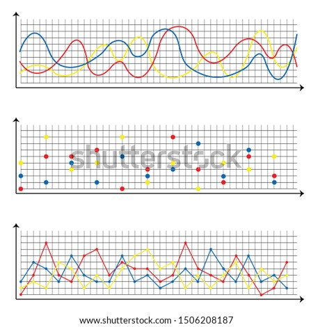 Line graph and point graph on a white background