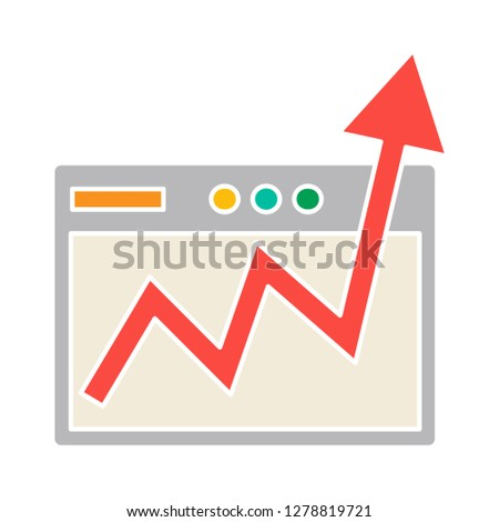 line graph icon-marketing icon-analysis illustration- investment sign symbol-statistic vector