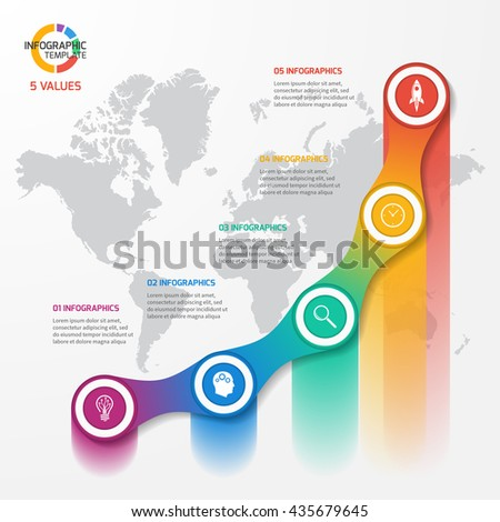 Infographic Ideas infographic template education : Line Graph Infographic Template For Charts And Diagrams. Business ...