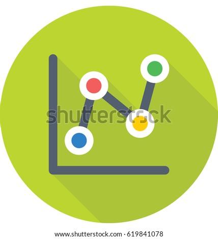Line Graph Vector Icon