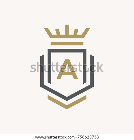 Line graphics monogram. Elegant art logo design. Letter A. Graceful template. Business sign, identity for Restaurant, Royalty, Boutique, Cafe, Hotel, Heraldic, Jewelry, Fashion. Vector elements Foto stock ©