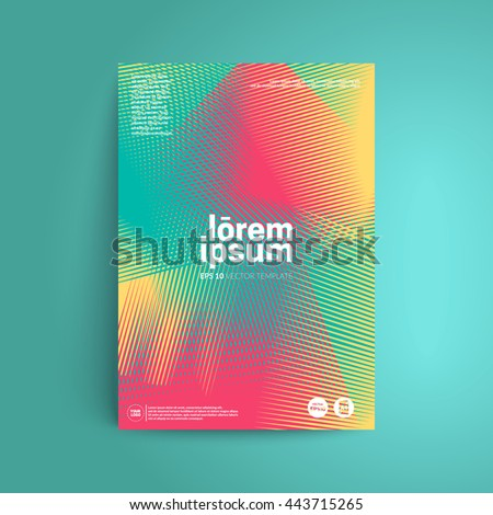line halftone cover design