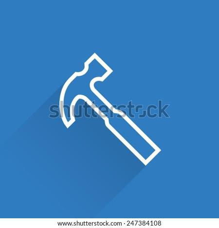 Line Hammer Icon