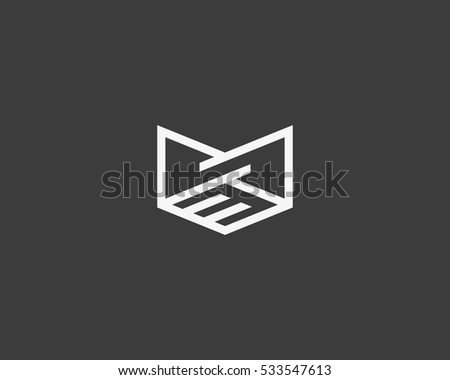 Line handshake crown logo design. Royal teamwork vector logotype.