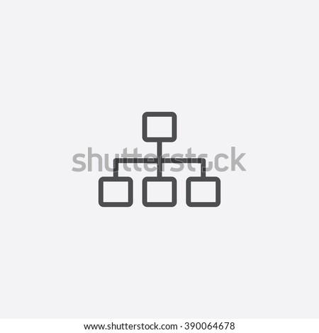 line hierarchy Icon