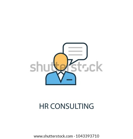 Line Hr consulting icon. Simple element illustration. Hr consulting symbol design from HR collection. Can be used in web and mobile.