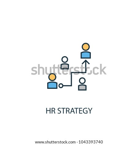 Line Hr strategy icon. Simple element illustration. Hr strategy symbol design from HR collection. Can be used in web and mobile.