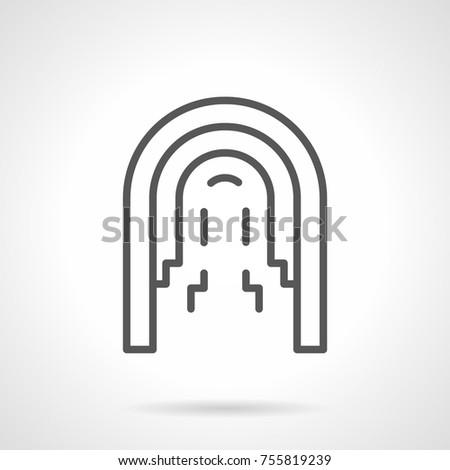 line icon architectural arcade